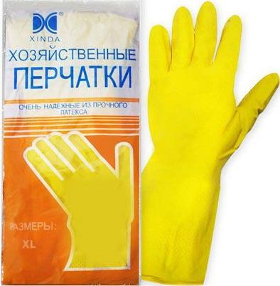 Перчатки латексные хозяйственные L, арт.: в00801