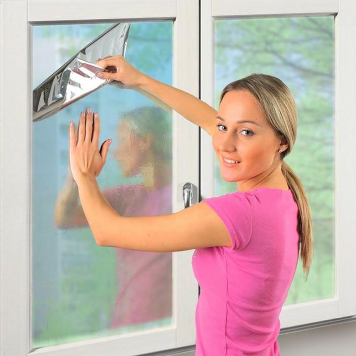 Пленка-штора зеркальная солнезащитная 3м*0,6м, арт.: 9п1468