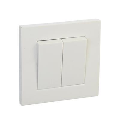 Выключатель двухклавишный, цвет белый 10А 250В, пластик ABS FORZA ЛАЙТ, арт.: 904125